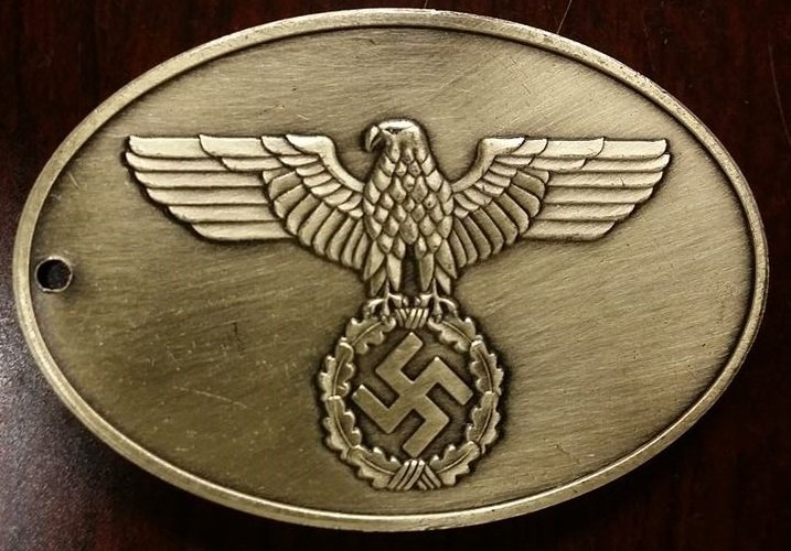 KRIMINALPOLIZEI WWII Nazi German Gestapo Warrant disc secret police badge