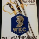 WWII WW2 Nazi German Sword Dagger knife maker WKC Metal sign