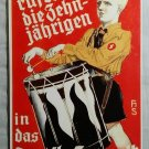 WWII WW2 Nazi German HJ Hitler Youth drummer player Metal sign