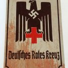 WWII WW2 Nazi German DRK Red Cross eagle Metal sign