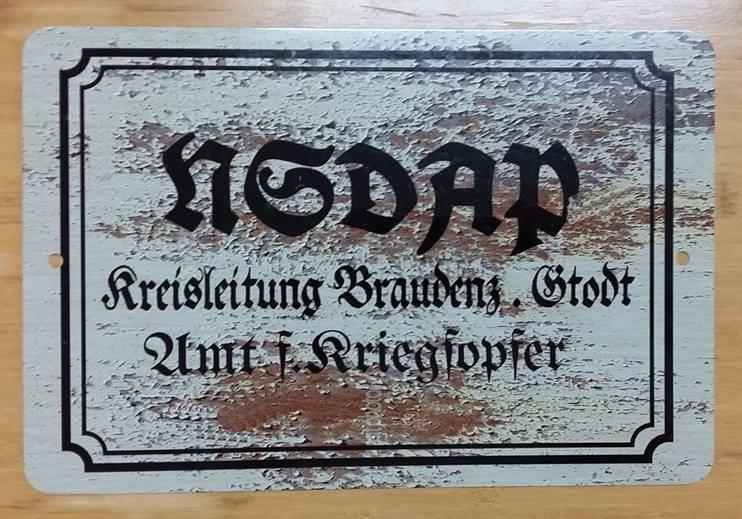WWII WW2 Nazi German NSDAP Propaganda Metal sign