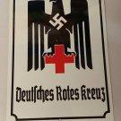 WWII WW2 Nazi German DRK Red Cross eagle Propaganda Metal sign