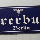 ADOLF HITLER BUNKER  Fuhrerbunker WWII WW2 Nazi German Metal sign