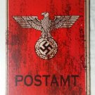 WWII WW2 Nazi German Postamt Eagle and swastika Metal sign