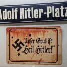 X 2 WWII WW2 Nazi German Adolf Hitler  propaganda Metal signs