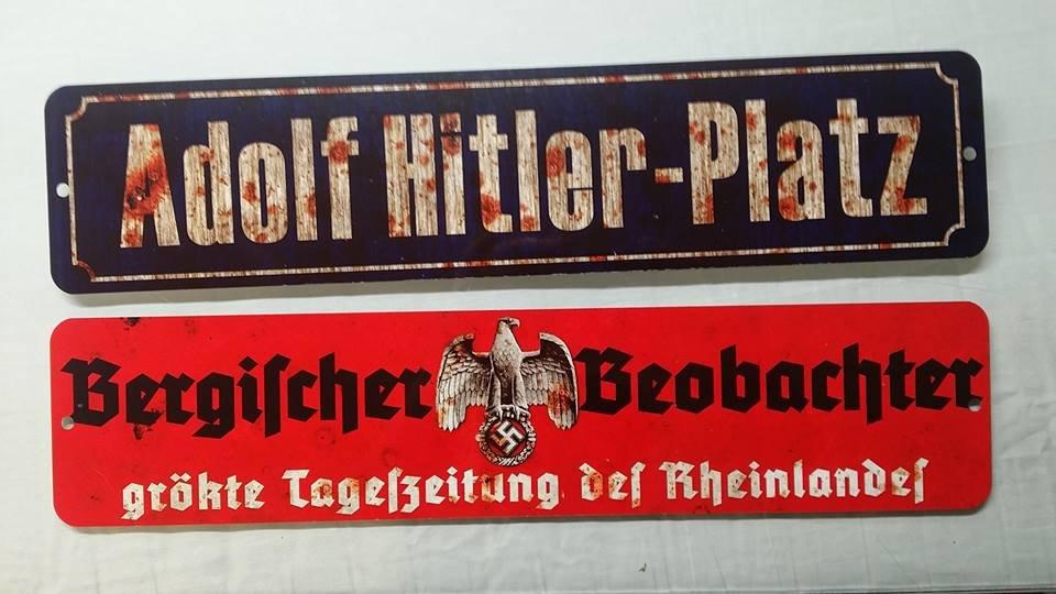X 2 WWII WW2 Nazi German Adolf Hitler NSDAP  propaganda Metal signs