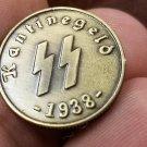 WWII WW2 Nazi German SS Kanitnegeld bar money coin 1938 bronze