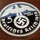 WWII WW2 Nazi German Hindenburg 5RM swastika coin