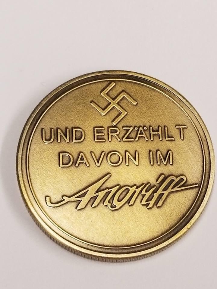WWII WW2 German Nazi Zionist Der Angriff Anti semitic Goebbels swastika bronze medal coin medallion