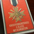 WWII Nazi German War Merit medal 1939 Vintage matchbox