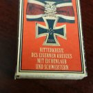 WWII Nazi German Knights cross w oak leaves  medal 1939 Vintage matchbox
