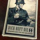 WWII Nazi German  SS steel helmet soldier Vintage matchbox