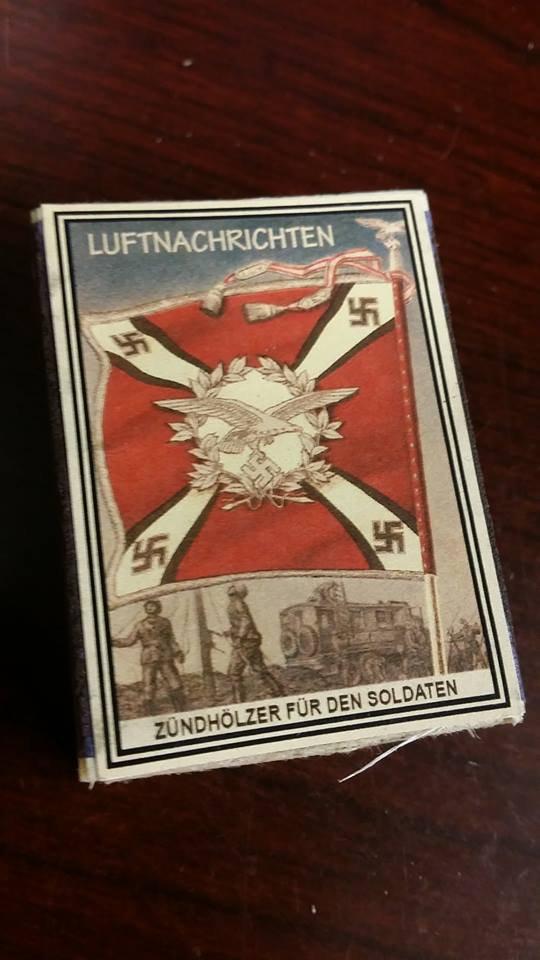 WWII Nazi German Luftwaffe Standarte Flag Artillerie Vintage matchbox
