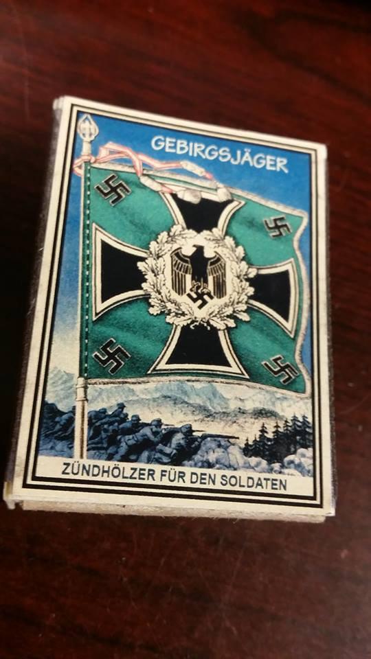 WWII Nazi German Luftwaffe Standarte Flag Vintage matchbox