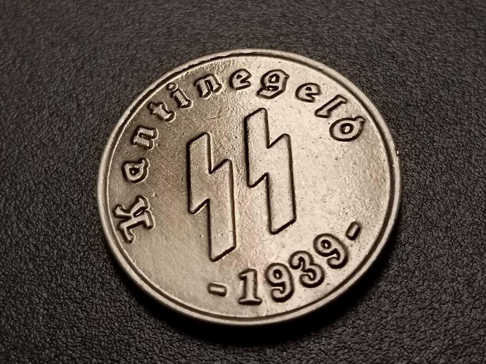 WWII WW2 Nazi German SS Kantinegeld 1939 bronze coin