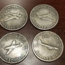 WWII WW2 Nazi German Adolf Hitler Luftwaffe coin lot x 4