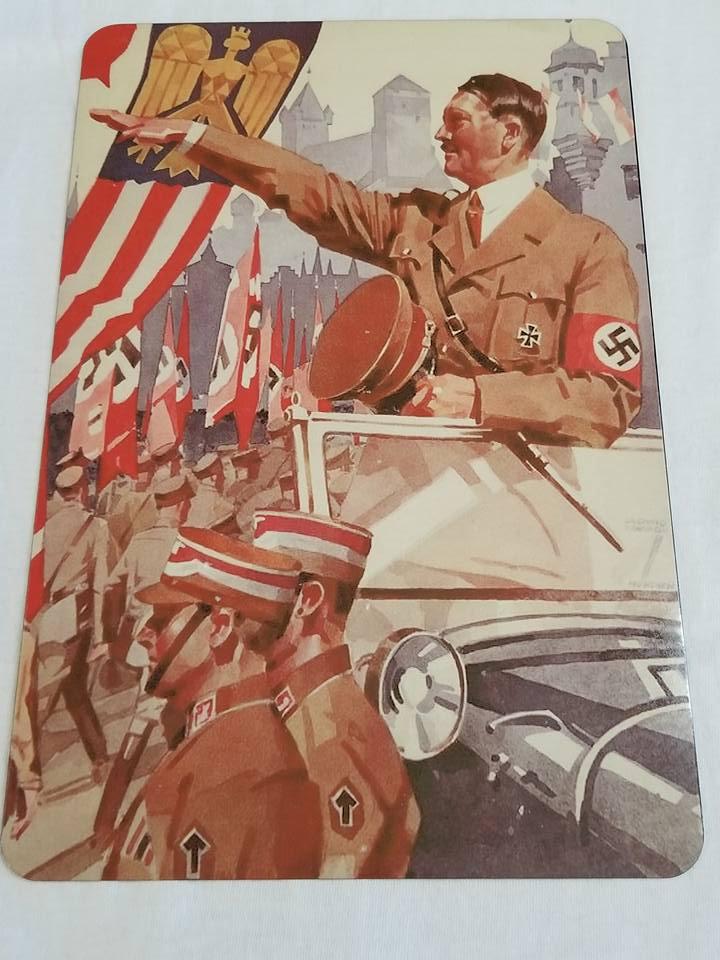 WWII WW2 Nazi German Army Battle Propaganda Metal sign