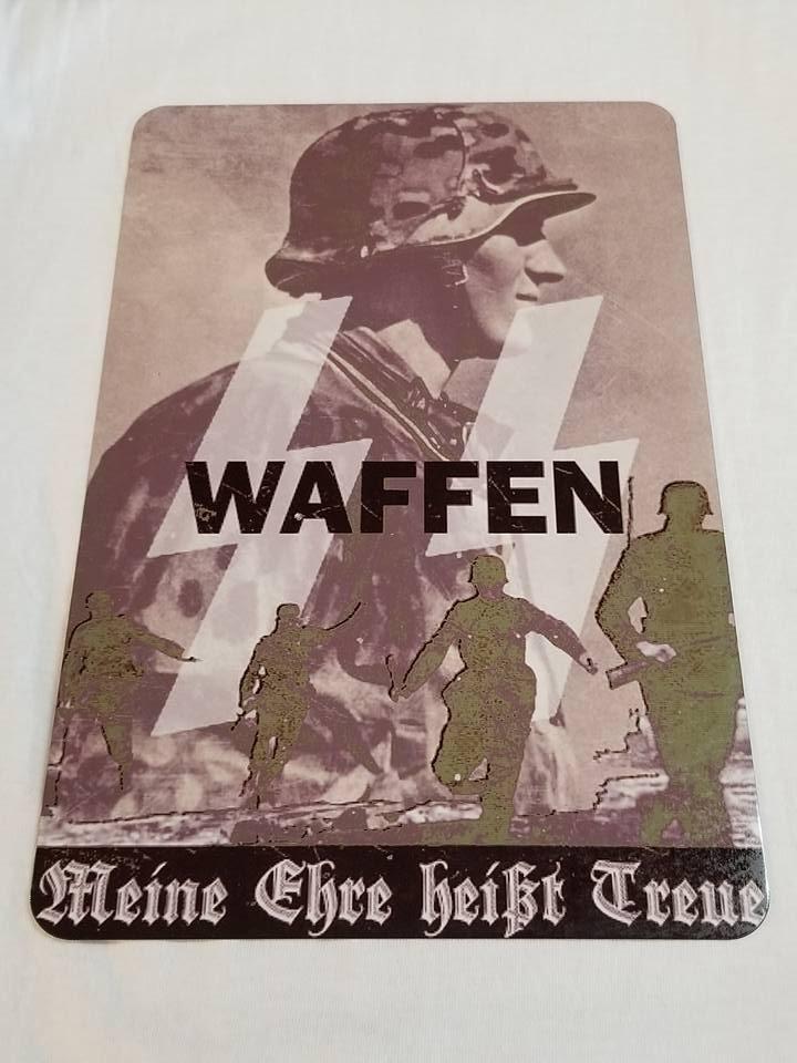 WWII WW2 Nazi German Waffen Battle Propaganda Metal sign