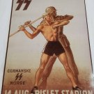 WWII WW2 Nazi German Spear Men Battle Propaganda Metal sign