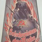 WWII WW2 Nazi German Bomb Battle Propaganda Metal sign