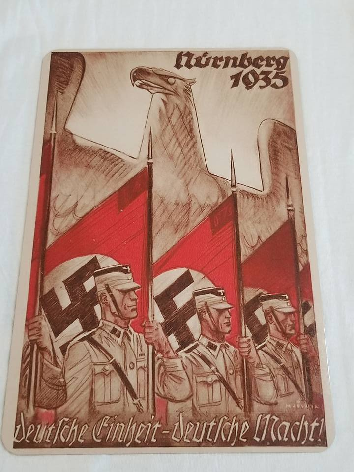WWII WW2 Nazi German Flag Army Propaganda Metal sign