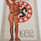 WWII WW2 Nazi German Clock 1932 Propaganda Metal sign