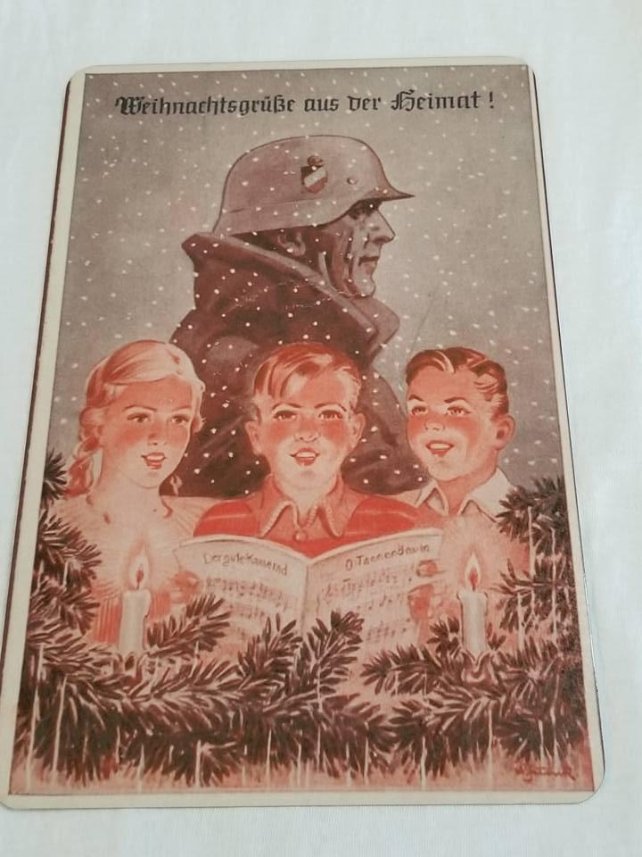 WWII WW2 Nazi German Waffen SS Children Propaganda Metal sign