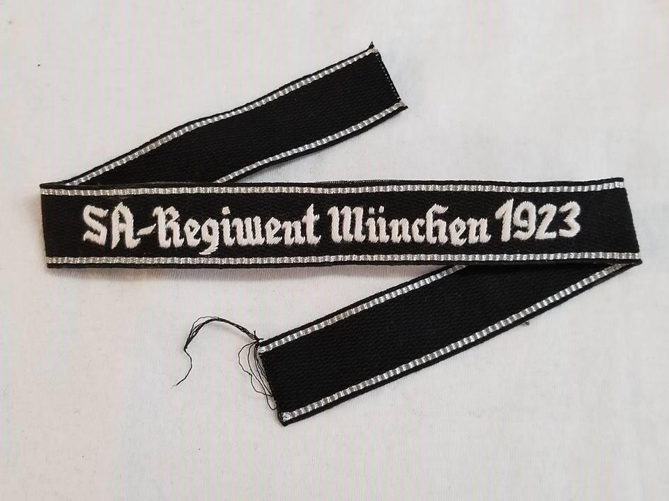 WWII WW2 Nazi German early SA Munchen 1923 cuff title