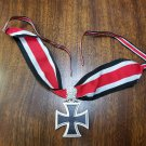 WWII WW2 Nazi German Knights Iron cross 1939 neck ribbon w oak leaves
