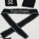 WWII WW2 Nazi German SS Prinz Eugen collection collar tabs - cuff title