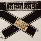 WWII WW2 Nazi German SS Totenkopf  cuff title