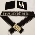 WWII WW2 Nazi German SS Ausfherin cuff title collar tabs