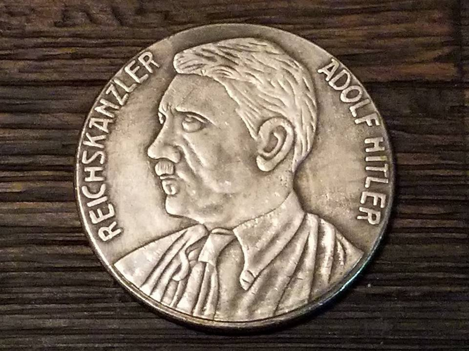WWII WW2 Nazi German Adolf Hitler 1933 NSDAP Coin