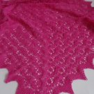 Pure Merino Wool,  Lace Baby Blanket, Estonian  lace,Hand knitted baby blanket fuchsia, pink