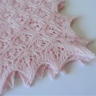 Hand Knitted Baby Blanket,Light Pink,Merino Wool Baby Blanket, Lace blanket, Handmade blanket,