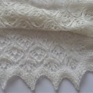 Hand Knitted Baby Blanket, Natural white baby Blanket, Pure Merino wool, Estonian Lace