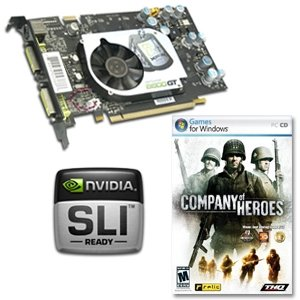 XFX GeForce 8600 GT XXX Video Card - FREE Company of Heroes PC Game