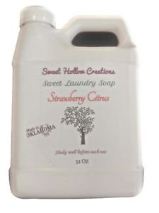 Laundry Soap Handmade Liquid Very Thick Rich Strawberry Citrus Scent Farm Fresh
