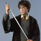 """HARRY POTTER GRYFFINDOR SWORD REPLICA RED RUBY HANDLE W/ WALL PLAQUE 32"""""""