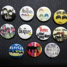 The Beatles badges,buttons set of 11! (imagine, john lennon, 50s rock n roll)