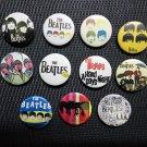 The Beatles badges,buttons set of 11! (imagine, john lennon, 50s rock n roll)