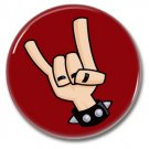 Devil Horns button! (1inch, 25mm, badges,pins,heavy metal)
