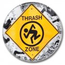 Thrash Zone button! (1inch, 25mm, badges,pins,heavy metal)