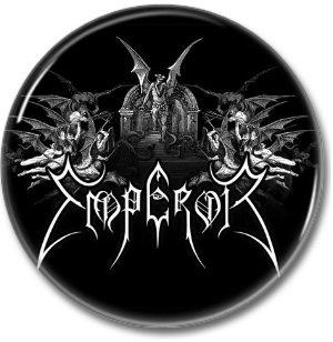 EMPEROR band button! (25mm, badges,pins, heavy metal, black metal)