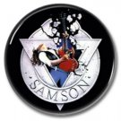 SAMSON band button! (1inch, 25mm, badges,pins,heavy metal)