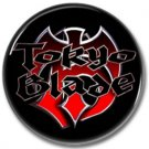 TOKYO BLADE band button! (1inch, 25mm, badges,pins,heavy metal)