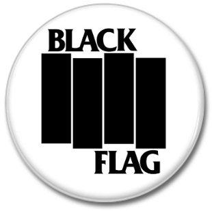 BLACK FLAG band button! (25mm, punk, badges, buttons)