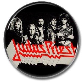 JUDAS PRIEST  band button! (1inch, 25mm, badges,pins,heavy metal)