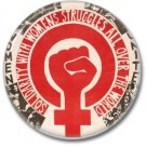 Feminist button! (25mm, badges, pins, girl power)