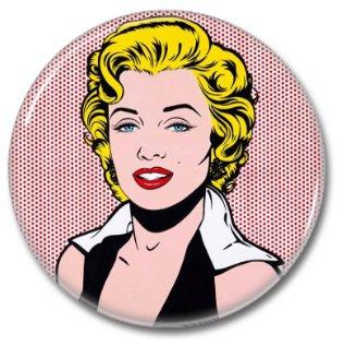 Marilyn Monroe button! (25mm, badges, pins, vintage)
